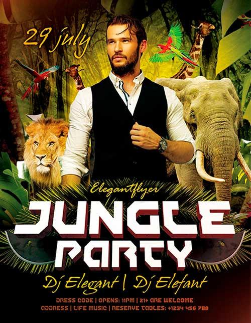 free_jungle_psd_flyer_template