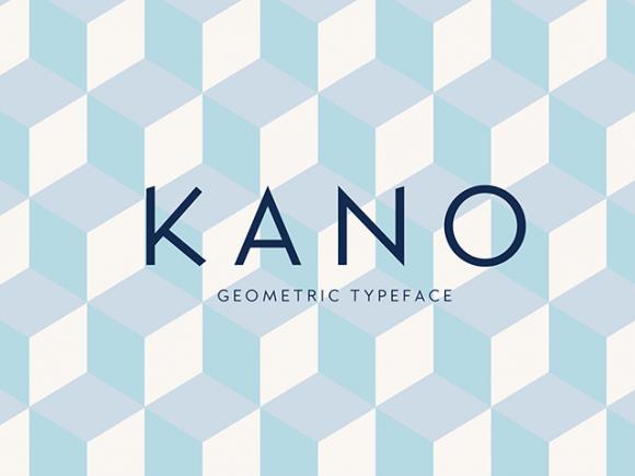 kano_free_geometric_font