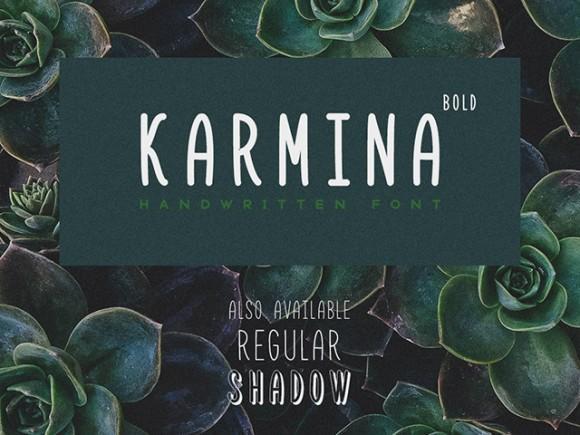 karmina_bold_free_handwritten_font