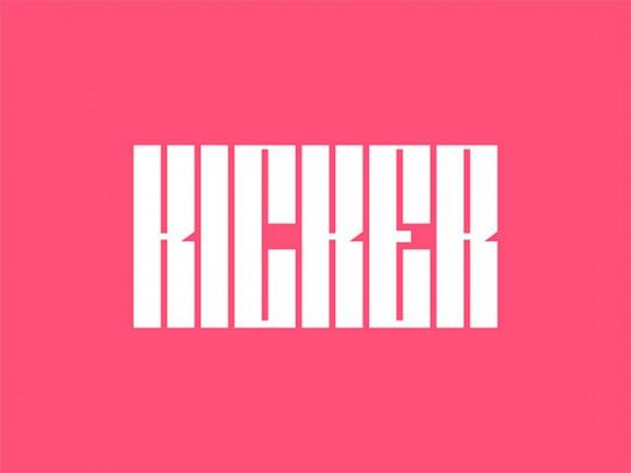 kicker_a_free_ultra_condensed_typeface