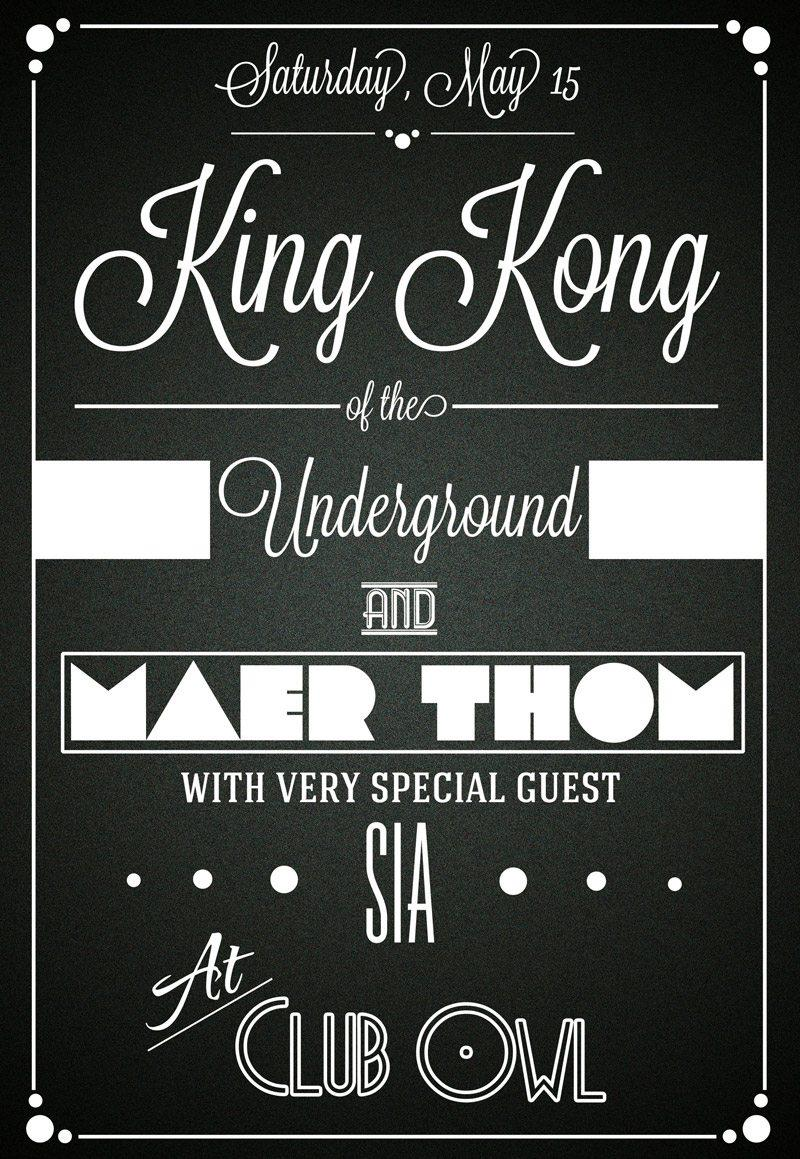 king_kong_club_typographic_free_flyer_template