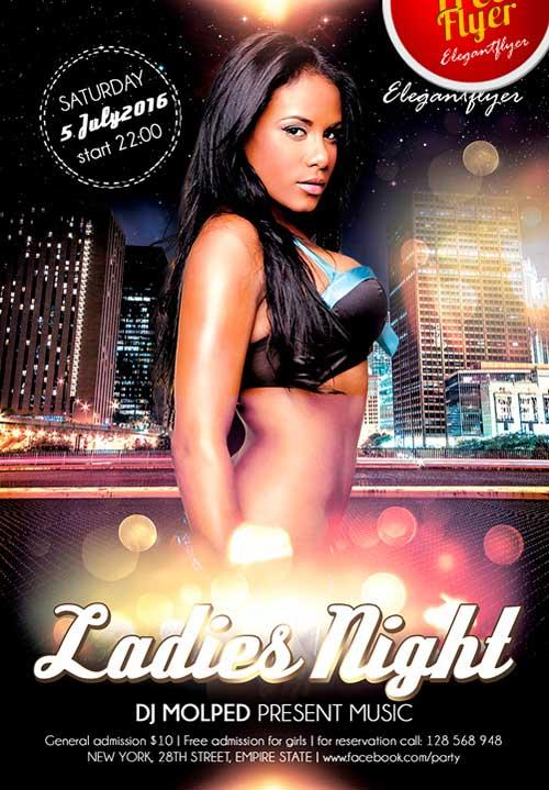 free_ladies_night_psd_flyer_template
