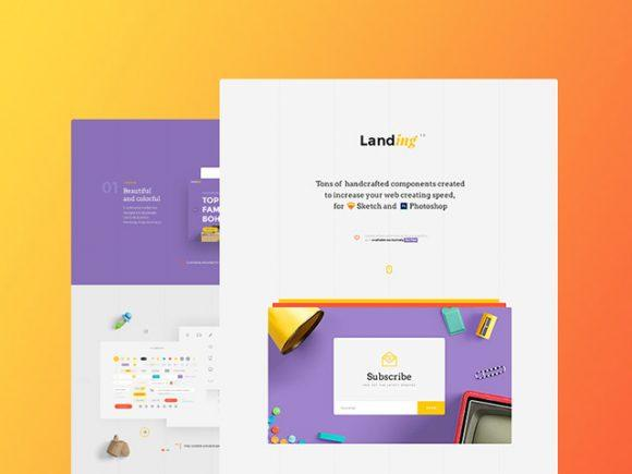 landing_free_ui_kit_for_sketch_and_photoshop