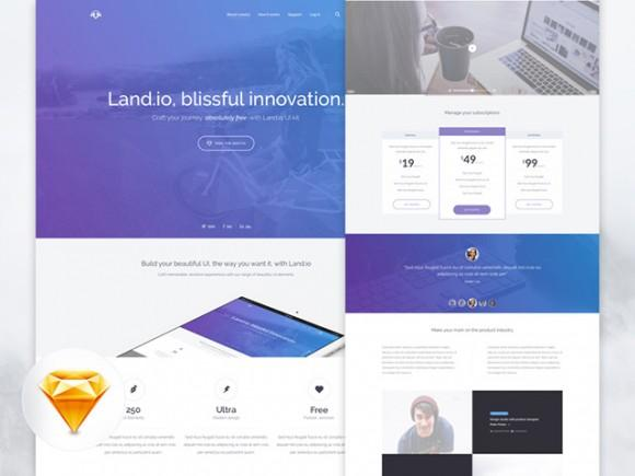land_io_landing_page_ui_kit