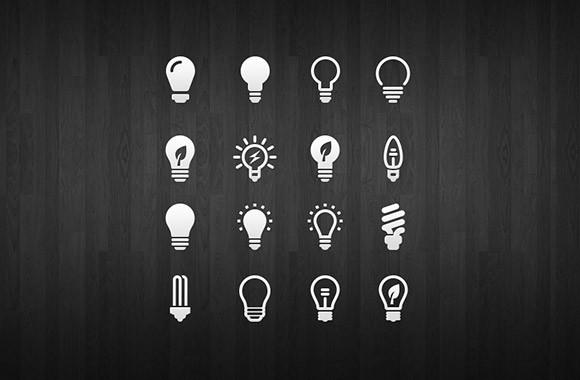 light_bulb_icon_set