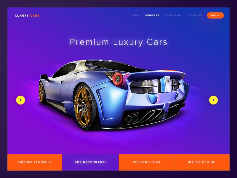 luxuray_cars_landing_page