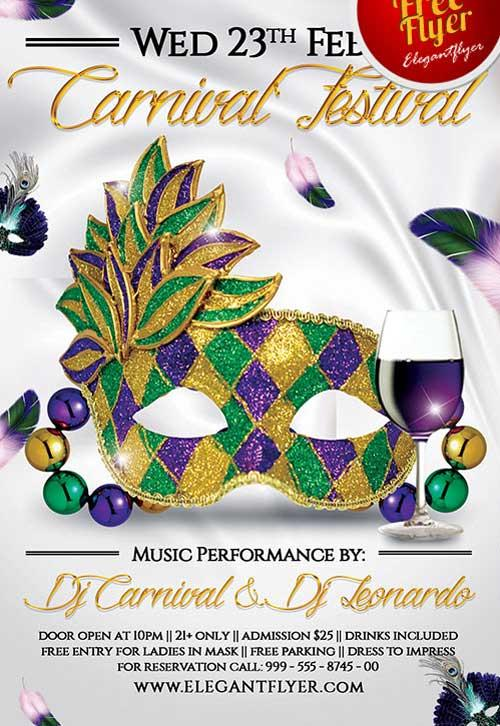 free_attractive_mardi_gras_carnival_festival_psd_flyer_template