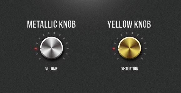 free_psd_metallic_knobs