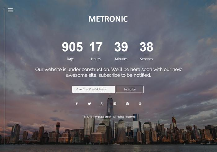 metronic_maintenance_template