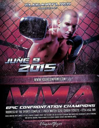 free_mma_boxing_sports_flyer_template