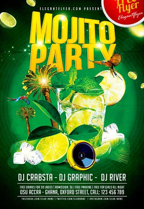 free_mojito_ice_psd_flyer_template
