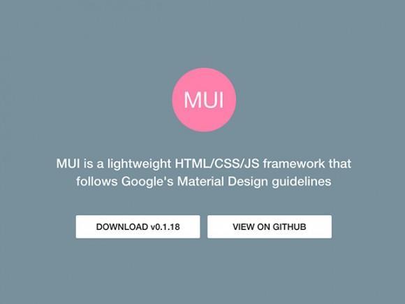 mui_material_design_framework