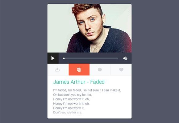 music_widget_with_lyrics_psd