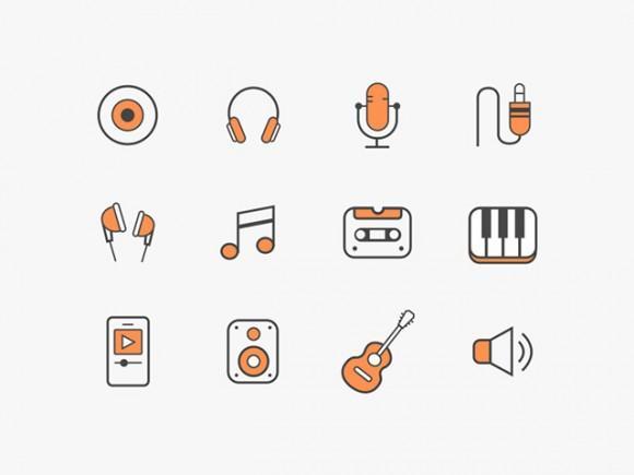 12_free_music_icons_sketch_ai