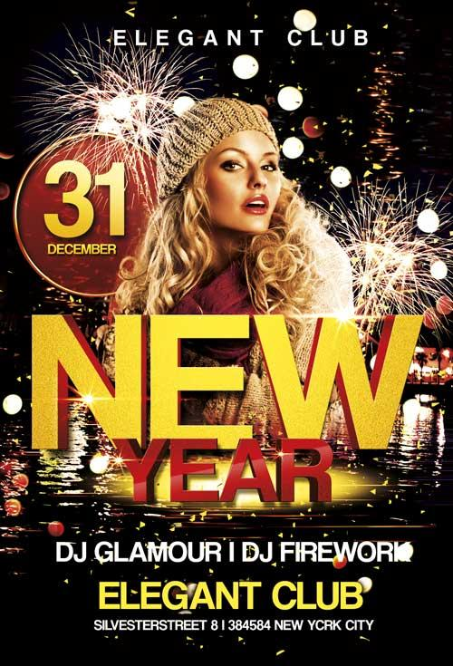 free_new_year_club_flyer_template