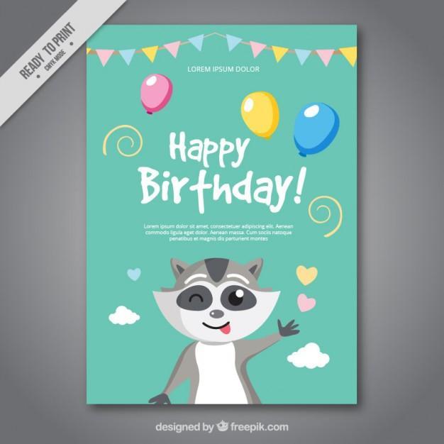 nice_birthday_card_with_a_raccoon