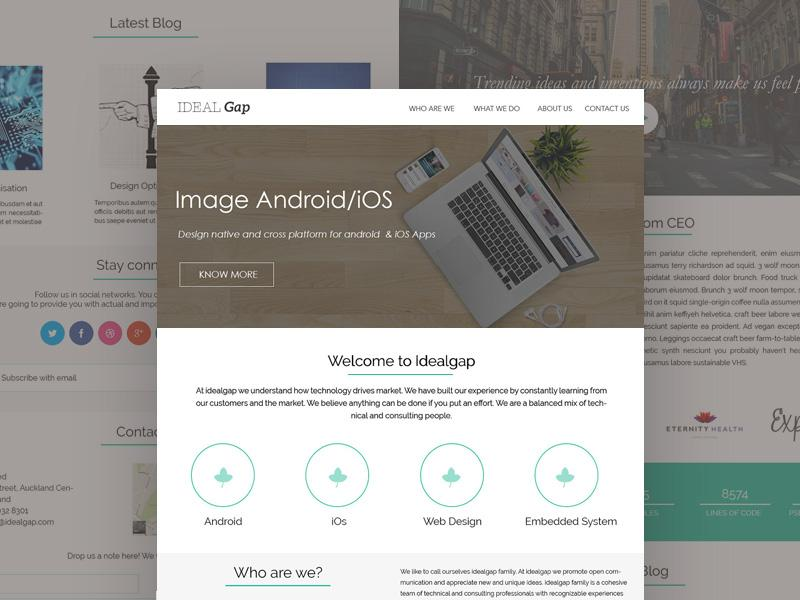 idealgap_website_template