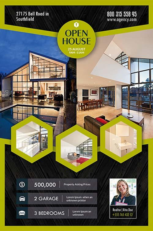 real estate brochure templates psd free download - 80 creative modern free business flyers templates