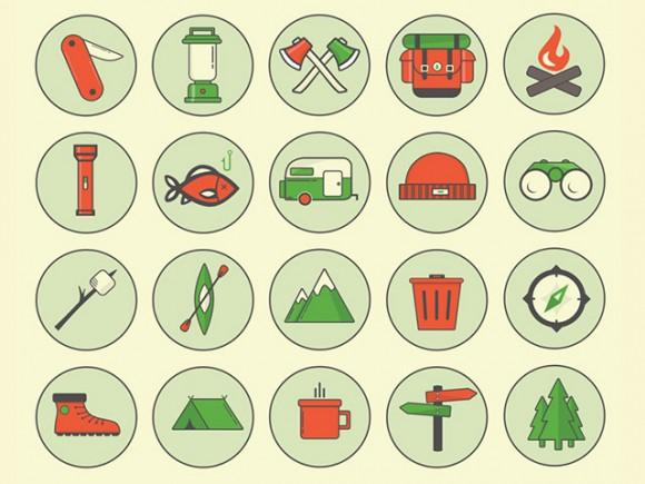 camping_outdoor_icons_psd