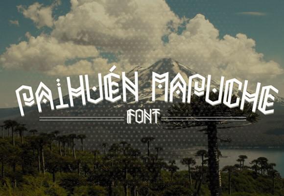 paihuen_mapuche_free_font