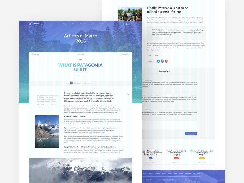 patagonia_website_template