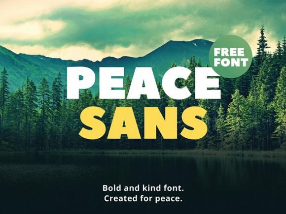 peace_sans_free_bold_font