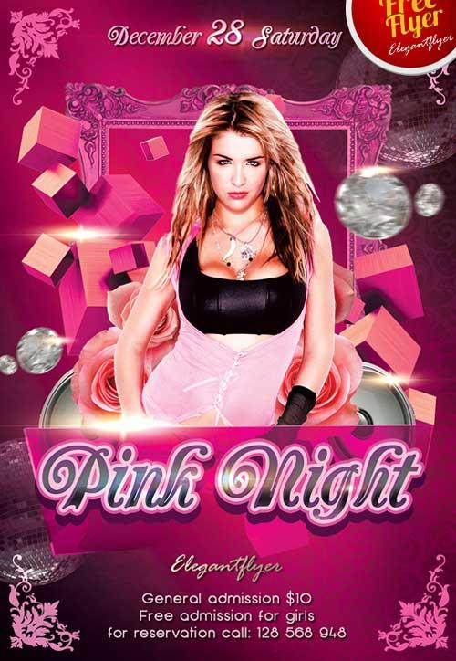 free_pink_valentines_day_night_flyer_template