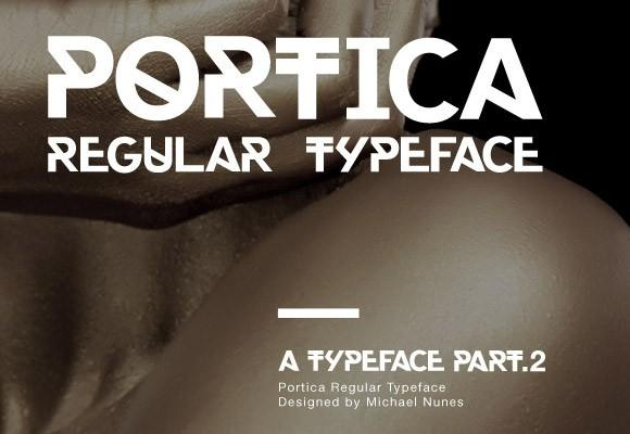 portica_regular_free_font