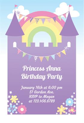 purple birthday invitations template
