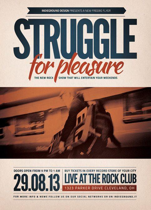 indie_rock_struggle_party_free_psd_flyer_template
