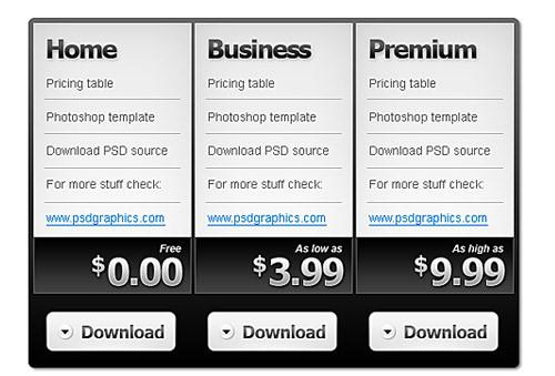 pricing_table_free_psd_template