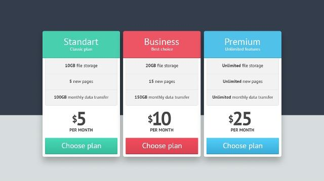 15Download Free Price List Ui Psd