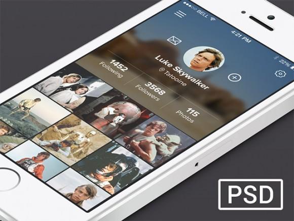 app_profile_page_psd_concept
