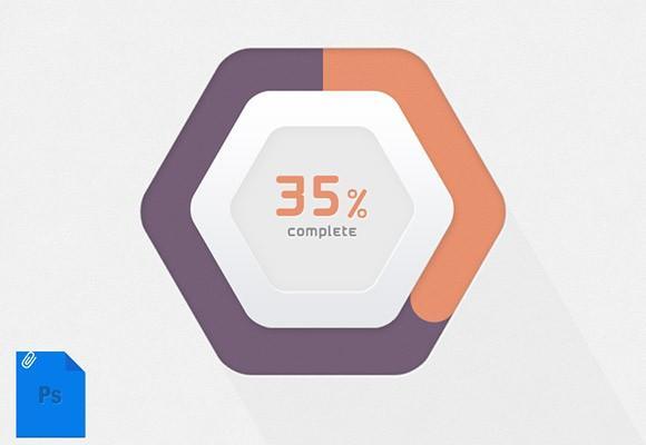 hexagonal_progress_bar