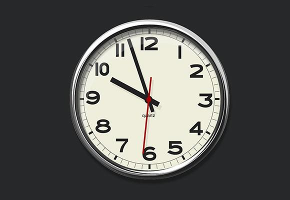 pure_css3_wall_analog_clock