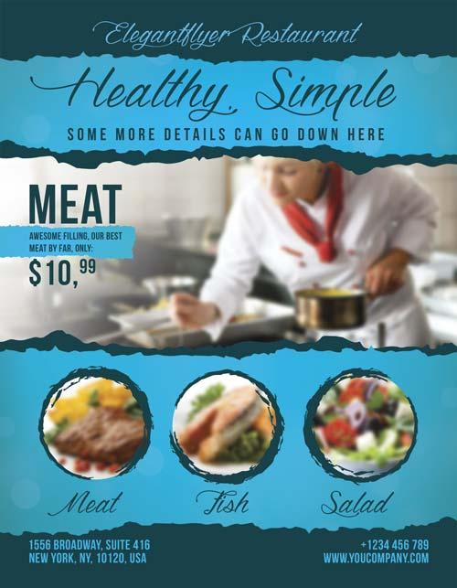 13 Good-Looking & Free Restaurant Flyers Templates | Utemplates