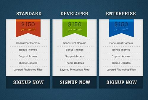 simple_pricing_boxes_free_psd