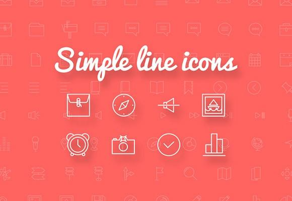 simple_line_icons_100_free_icons
