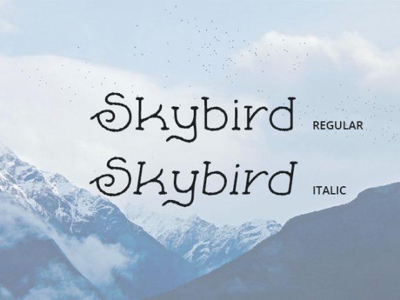 skybird_rough_a_crazy_free_font