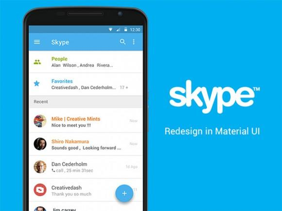skype_app_concept_with_material_ui