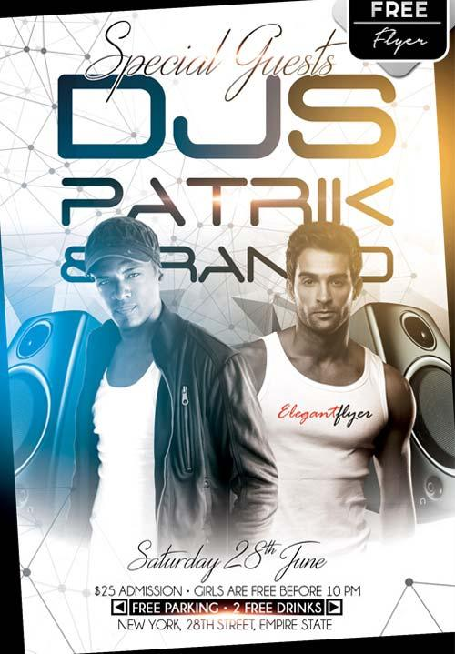 special_guests_djs_free_psd_flyer_template