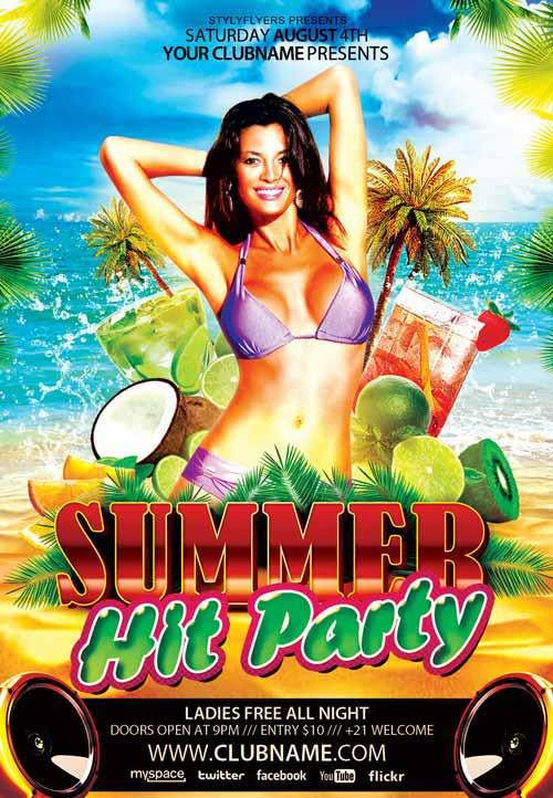 summer_hit_party_free_flyer_template