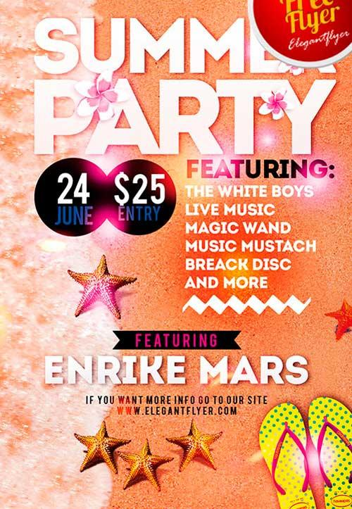 free_summer_party_psd_flyer_template