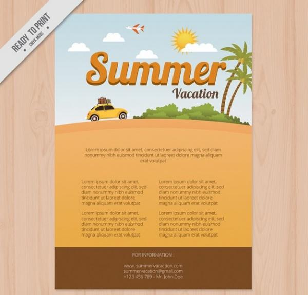 Beautiful Travel Vacation Brochure Templates UTemplates - Traveling brochure templates
