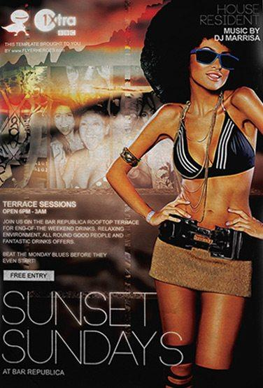 free_sunset_sundays_flyer_template