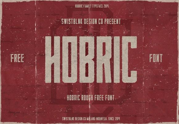 hobric_rough_free_font