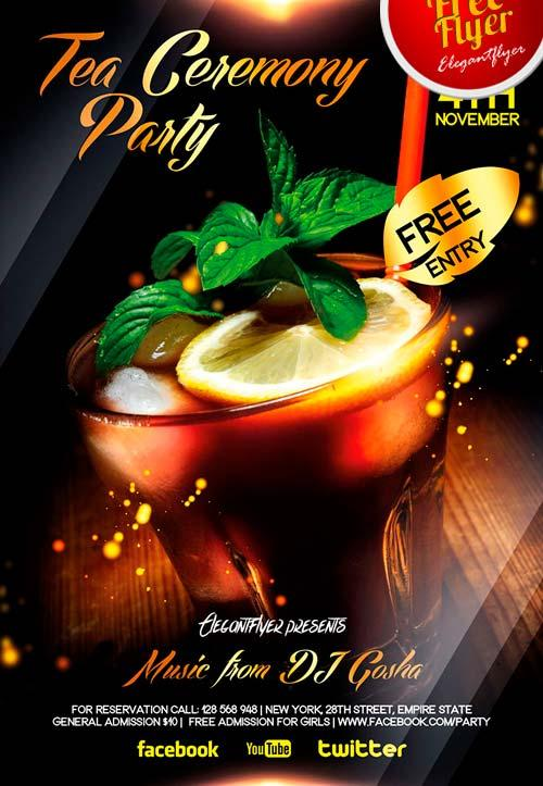 free_tea_and_cocktail_party_flyer_psd_template
