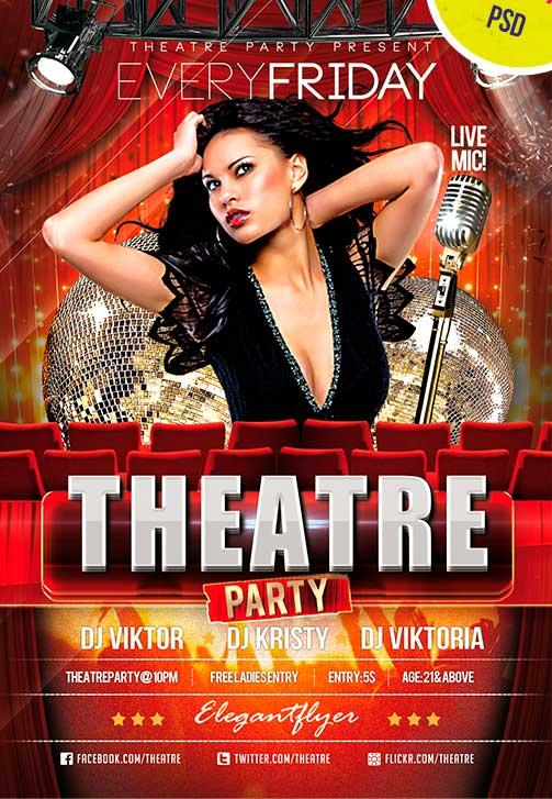 theatre_party_club_and_party_free_flyer_psd_template