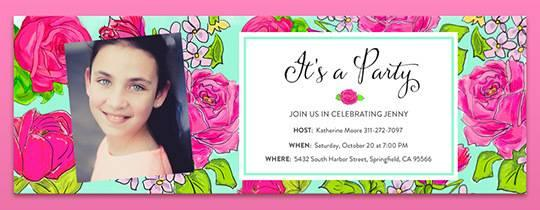 free_rose_party_card