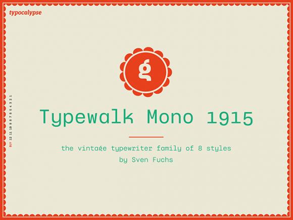 typewalk_mono_1915_a_vintage_typewriter_grotesque_font
